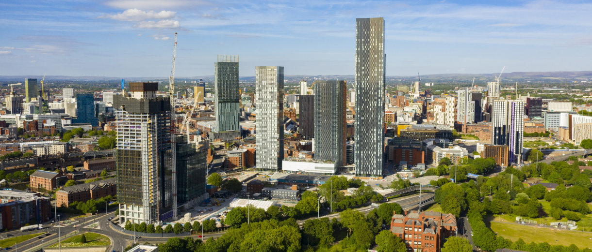 West Towers development in Manchester City Centre
