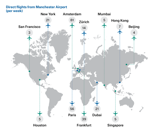 Manchester World Map.Connectivity Invest In Manchester